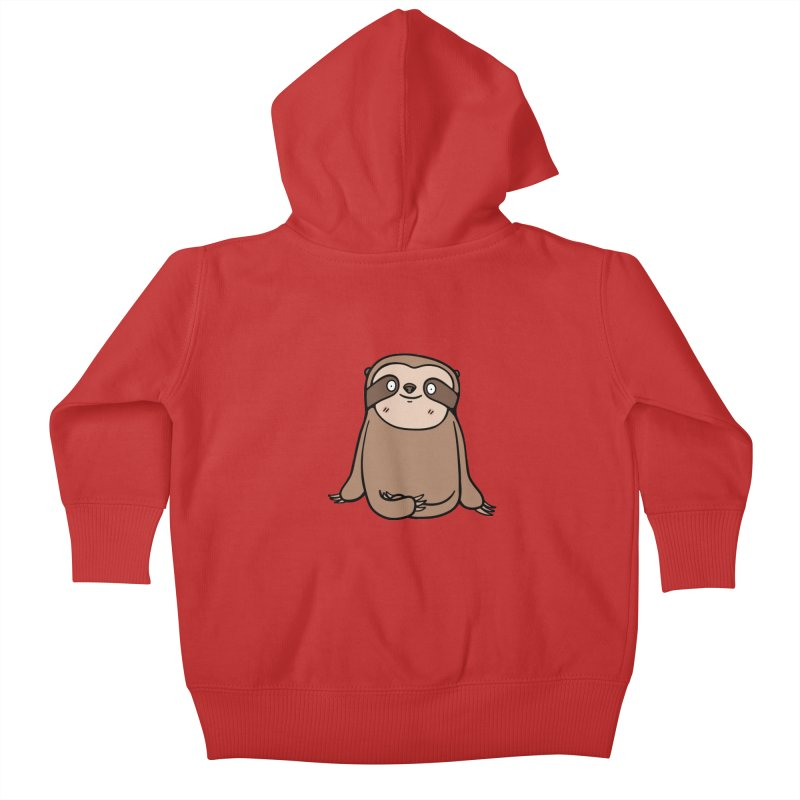 Chubby Sloth Kids Baby Zip-Up Hoody by Piratart Illustration
