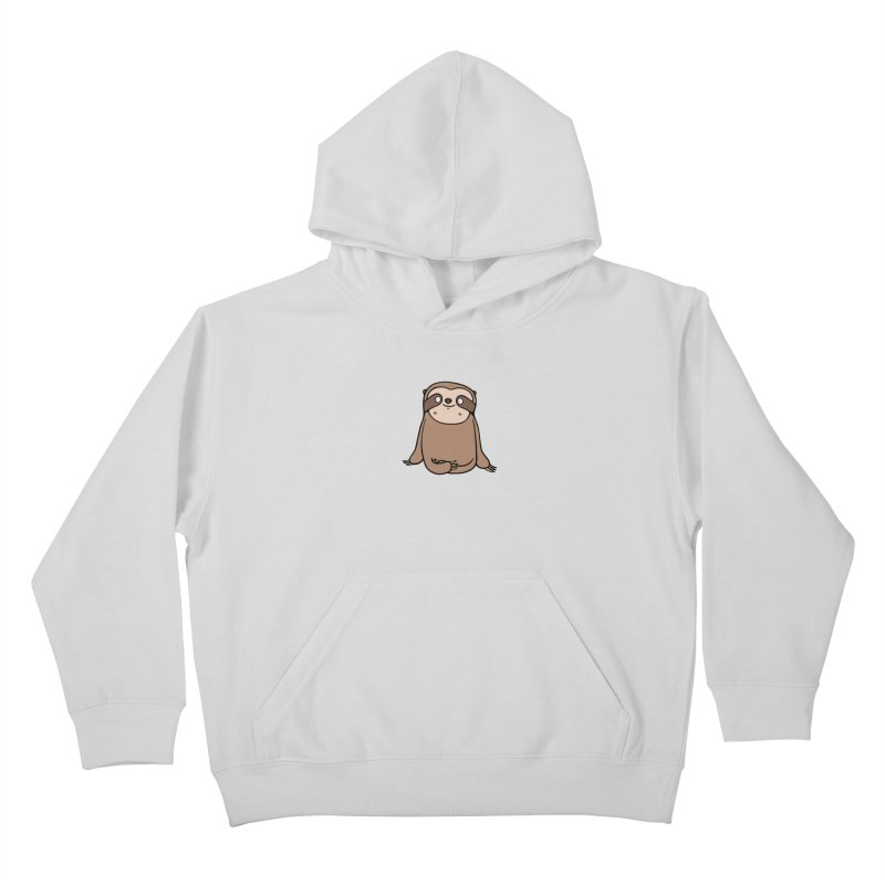 Chubby Sloth Kids Pullover Hoody by Piratart Illustration