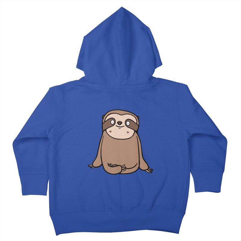 Chubby Sloth Kids Toddler Zip-Up Hoody by Piratart Illustration
