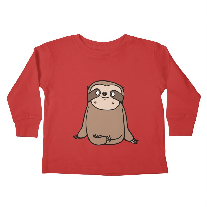 Chubby Sloth Kids Toddler Longsleeve T-Shirt by Piratart Illustration