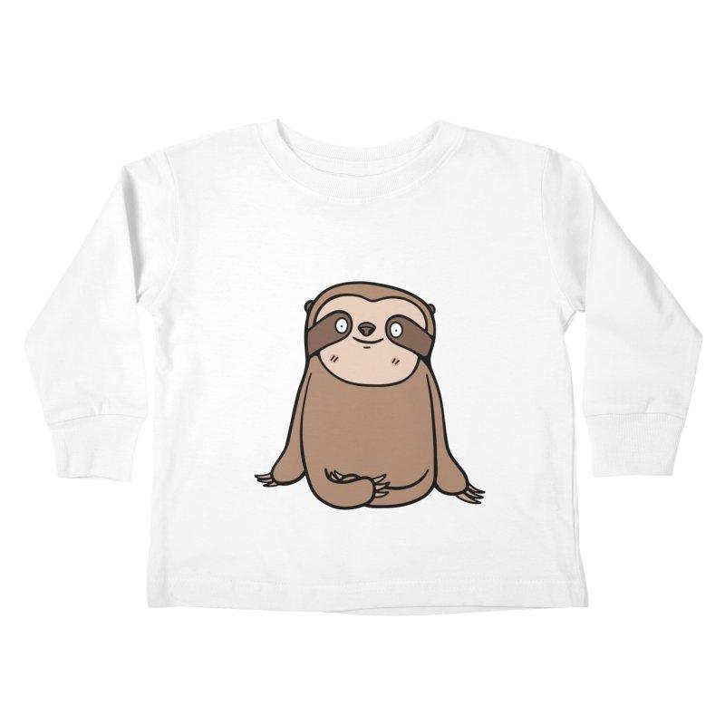 Chubby Sloth Kids Toddler Longsleeve T-Shirt by Piratart Illustration