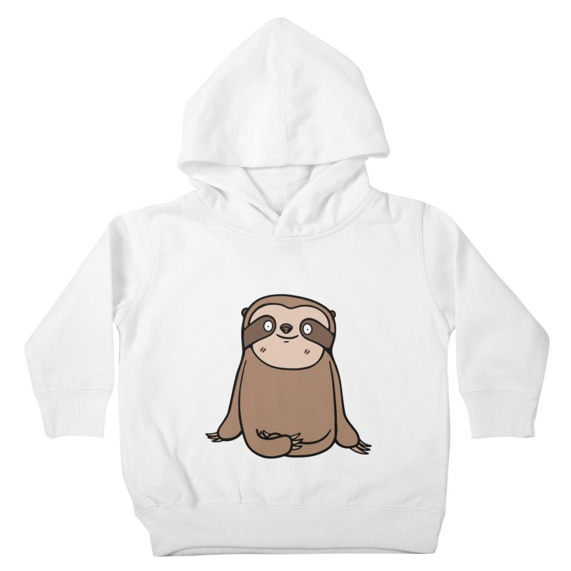 Chubby Sloth Kids Toddler Pullover Hoody by Piratart Illustration