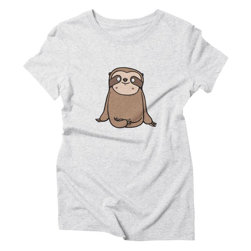 Chubby Sloth Women's T-Shirt by Piratart Illustration