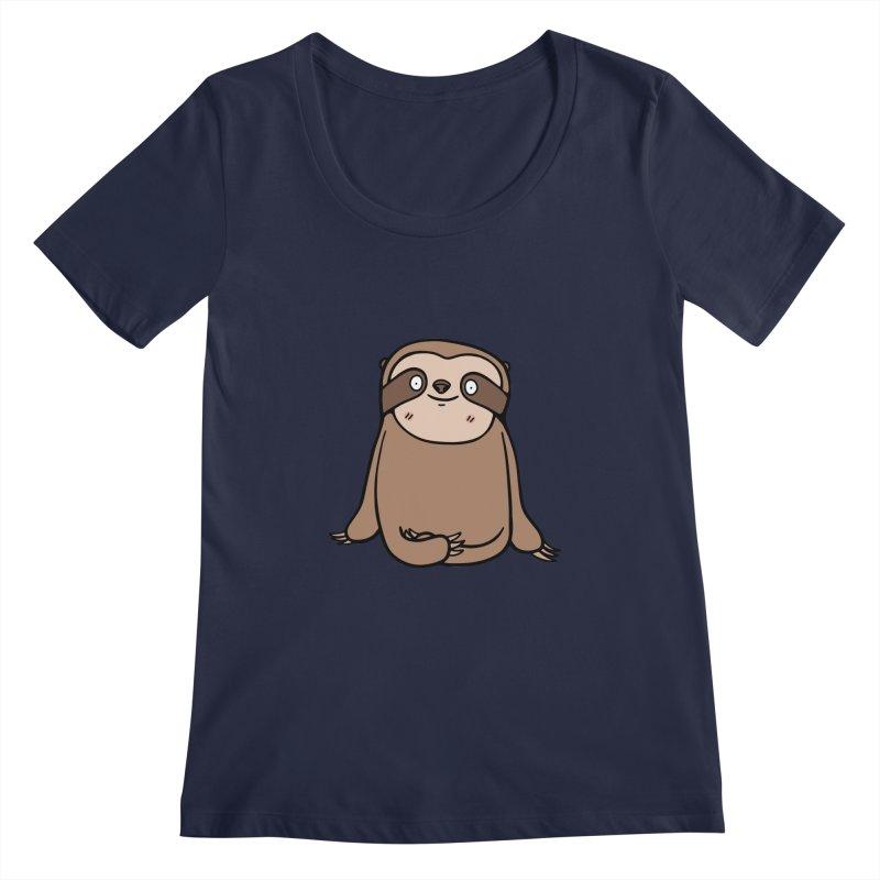 Chubby Sloth Women's Scoopneck by Piratart Illustration