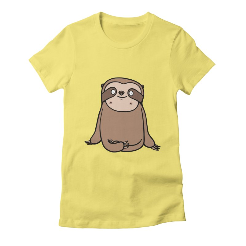 Chubby Sloth Women's Fitted T-Shirt by Piratart Illustration