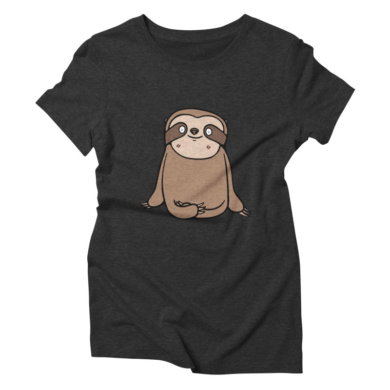 Chubby Sloth Women's Triblend T-Shirt by Piratart Illustration