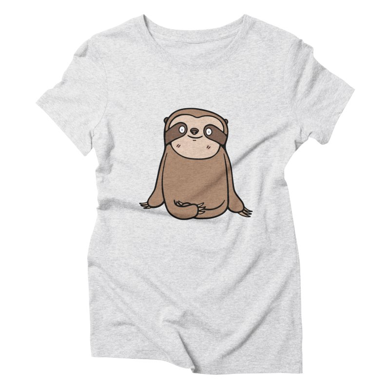 Chubby Sloth Women's Triblend T-shirt by Piratart Illustration