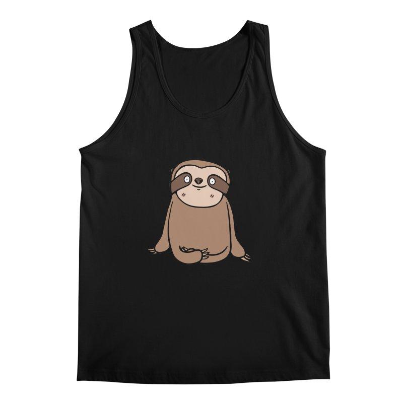 Chubby Sloth Men's Regular Tank by Piratart Illustration