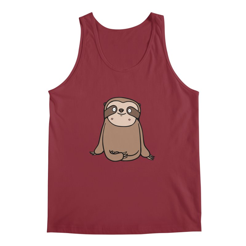 Chubby Sloth Men's Tank by Piratart Illustration