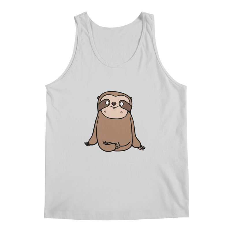 Chubby Sloth Men's Regular Tank by Piratart Illustration