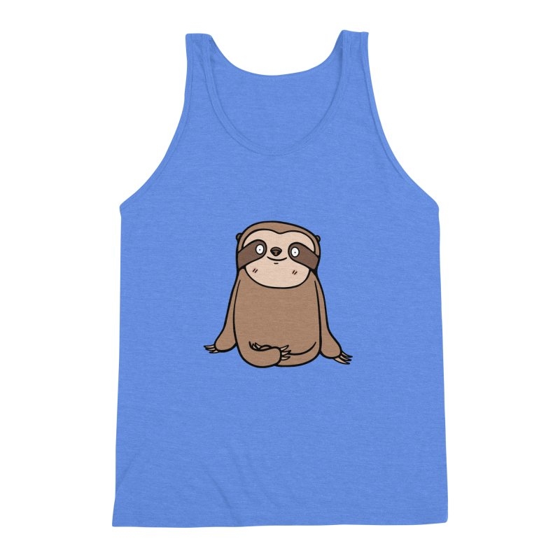 Chubby Sloth Men's Triblend Tank by Piratart Illustration