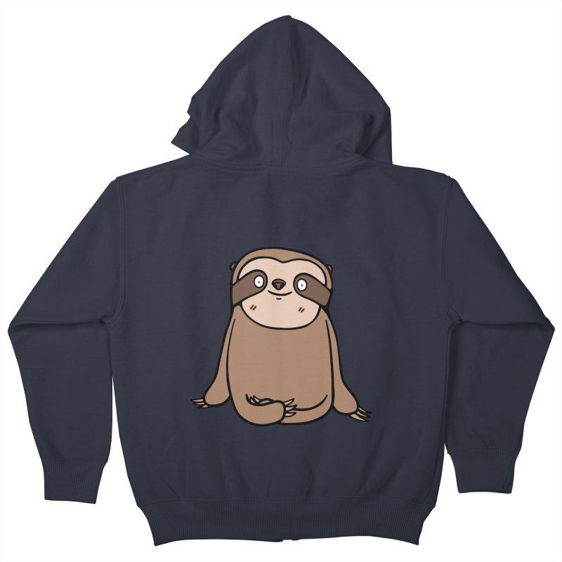 Chubby Sloth Kids Zip-Up Hoody by Piratart Illustration
