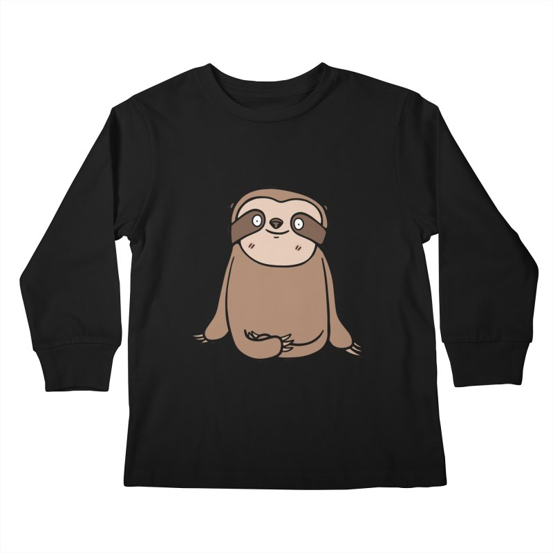 Chubby Sloth Kids Longsleeve T-Shirt by Piratart Illustration
