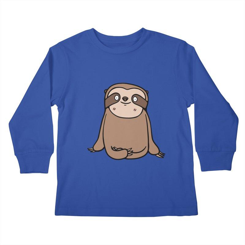 Chubby Sloth Kids Longsleeve T-Shirt by Piratart Illustration