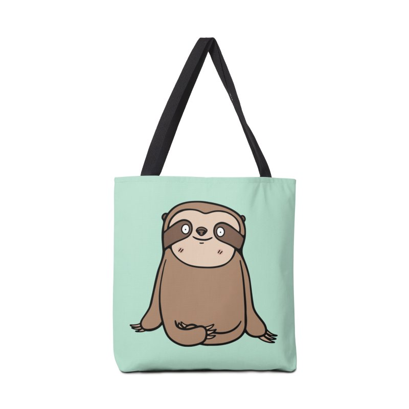 Chubby Sloth Accessories Tote Bag Bag by Piratart Illustration