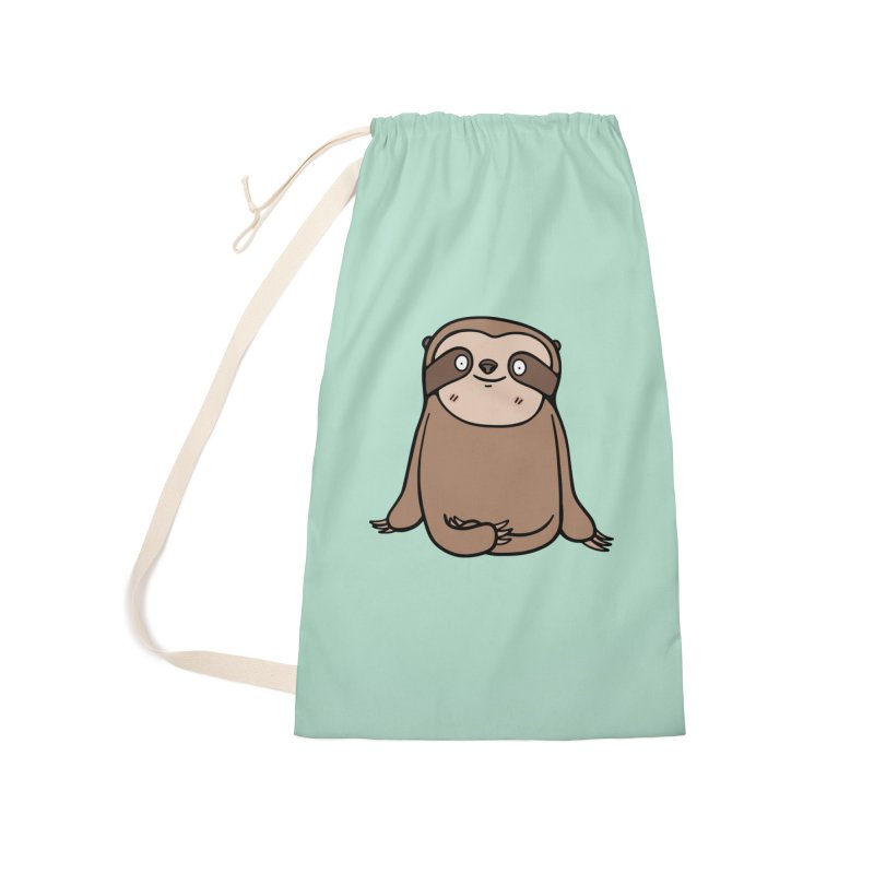 Chubby Sloth Accessories Laundry Bag Bag by Piratart Illustration