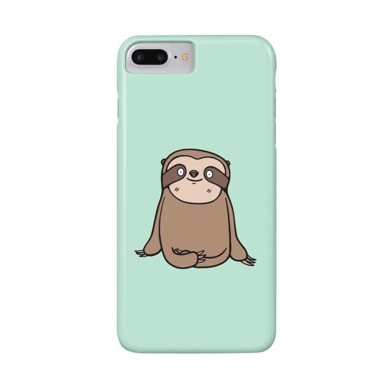 Chubby Sloth Accessories Phone Case by Piratart Illustration