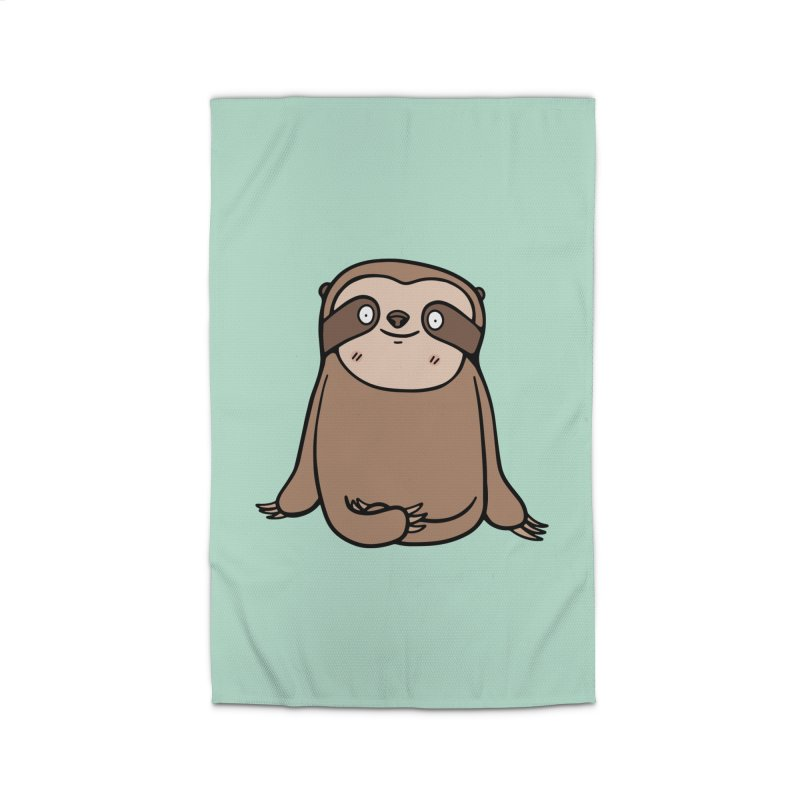 Chubby Sloth Home Rug by Piratart Illustration