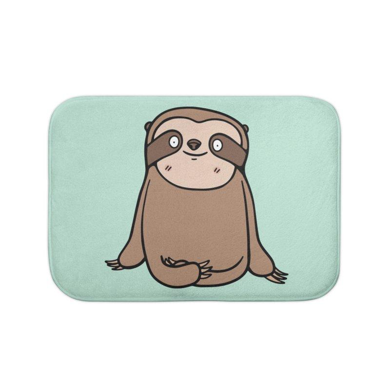 Chubby Sloth Home Bath Mat by Piratart Illustration