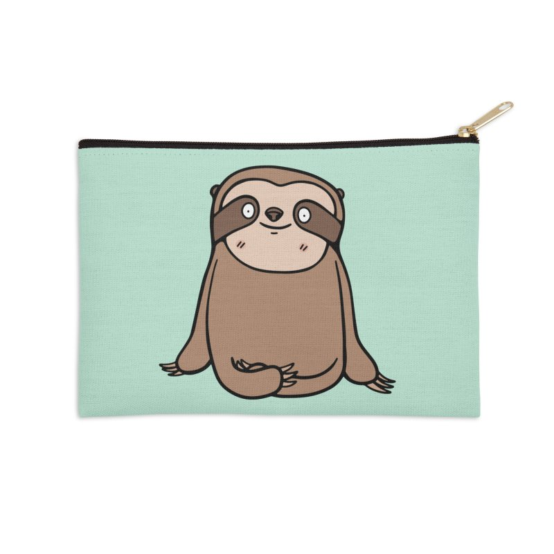 Chubby Sloth Accessories Zip Pouch by Piratart Illustration