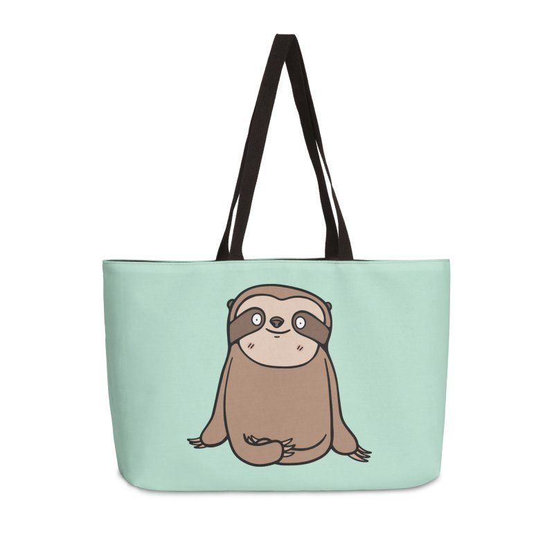 Chubby Sloth Accessories Weekender Bag Bag by Piratart Illustration