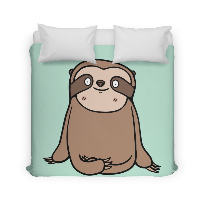 Chubby Sloth Home Duvet by Piratart Illustration