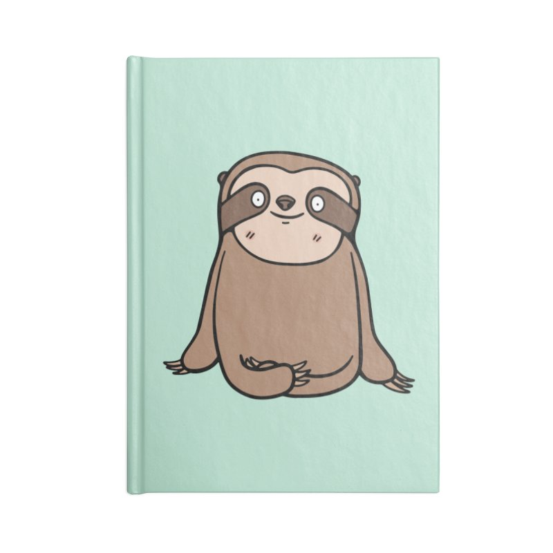 Chubby Sloth Accessories Blank Journal Notebook by Piratart Illustration