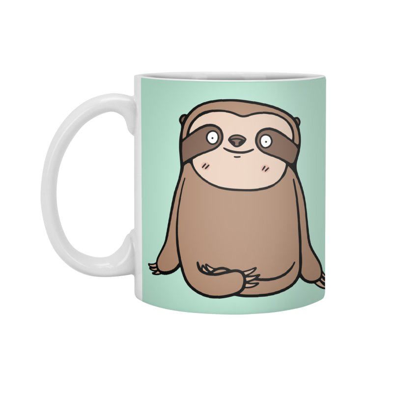 Chubby Sloth Accessories Mug by Piratart Illustration