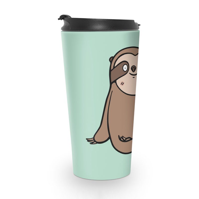 Chubby Sloth Accessories Travel Mug by Piratart Illustration