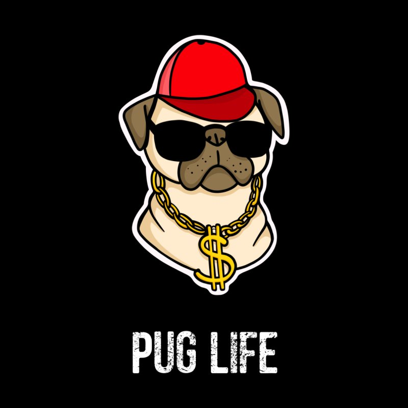 Pug Life Accessories Mug by Piratart Illustration