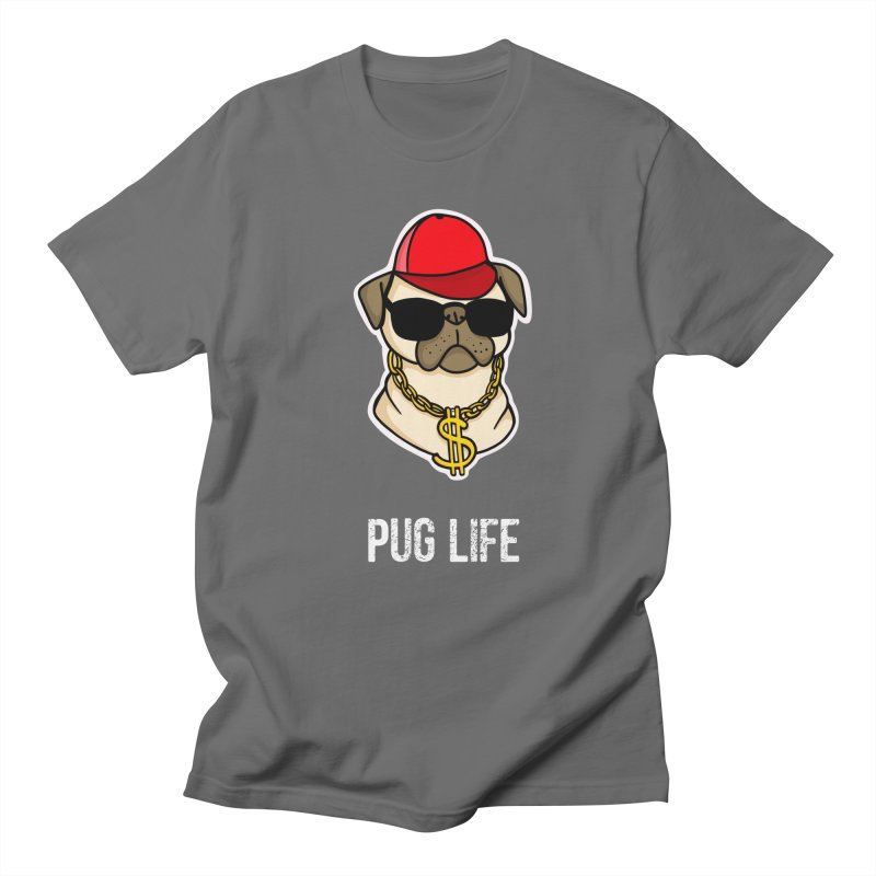 Pug Life Men's T-Shirt by Piratart Illustration