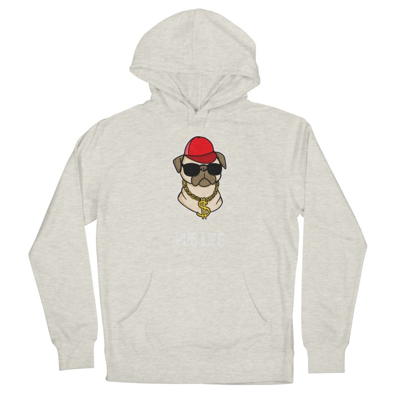 Pug Life Men's Pullover Hoody by Piratart Illustration