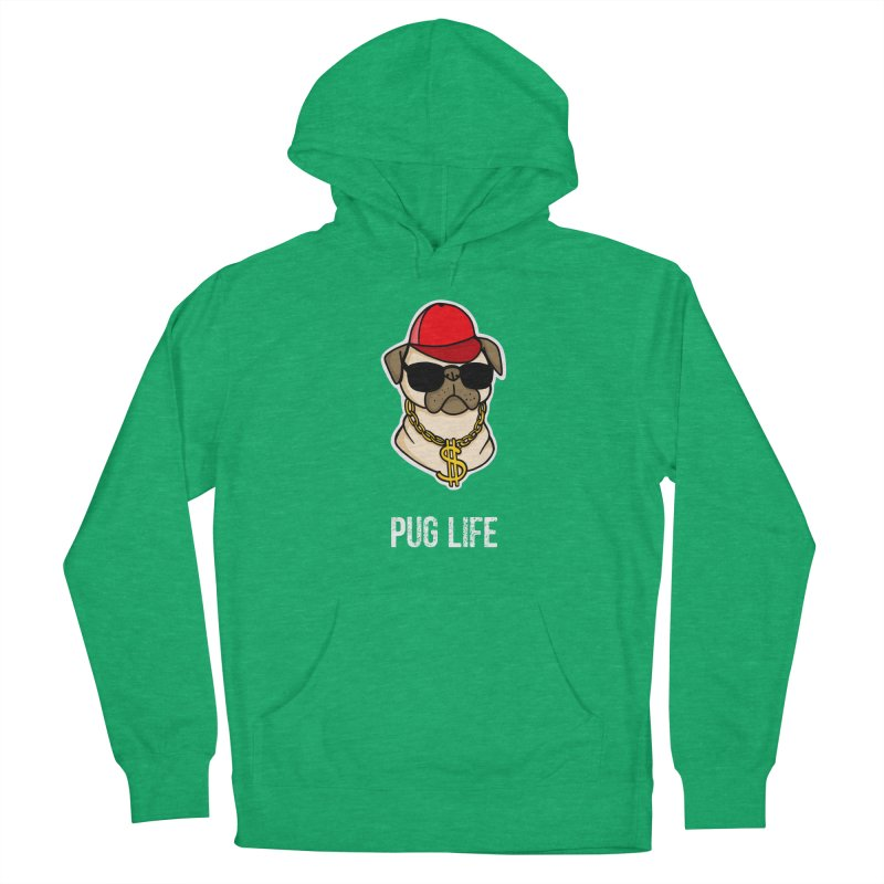 Pug Life Men's Pullover Hoody by Piratart Illustration