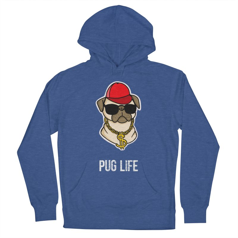 Pug Life Men's French Terry Pullover Hoody by Piratart Illustration