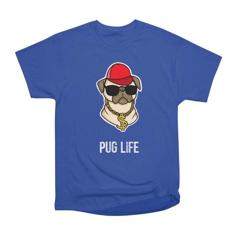 Pug Life Men's Heavyweight T-Shirt by Piratart Illustration