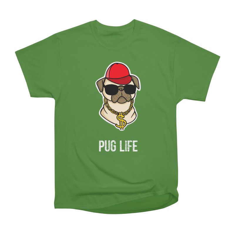 Pug Life Women's Classic Unisex T-Shirt by Piratart Illustration