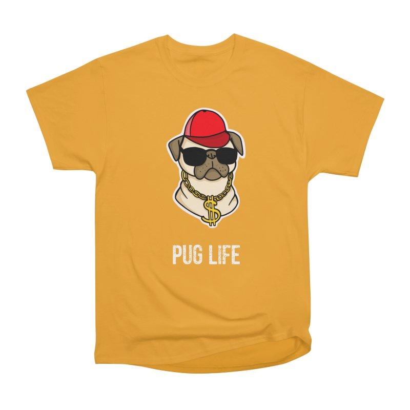 Pug Life Women's Heavyweight Unisex T-Shirt by Piratart Illustration