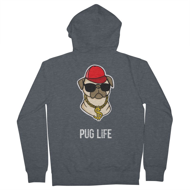 Pug Life Women's Zip-Up Hoody by Piratart Illustration