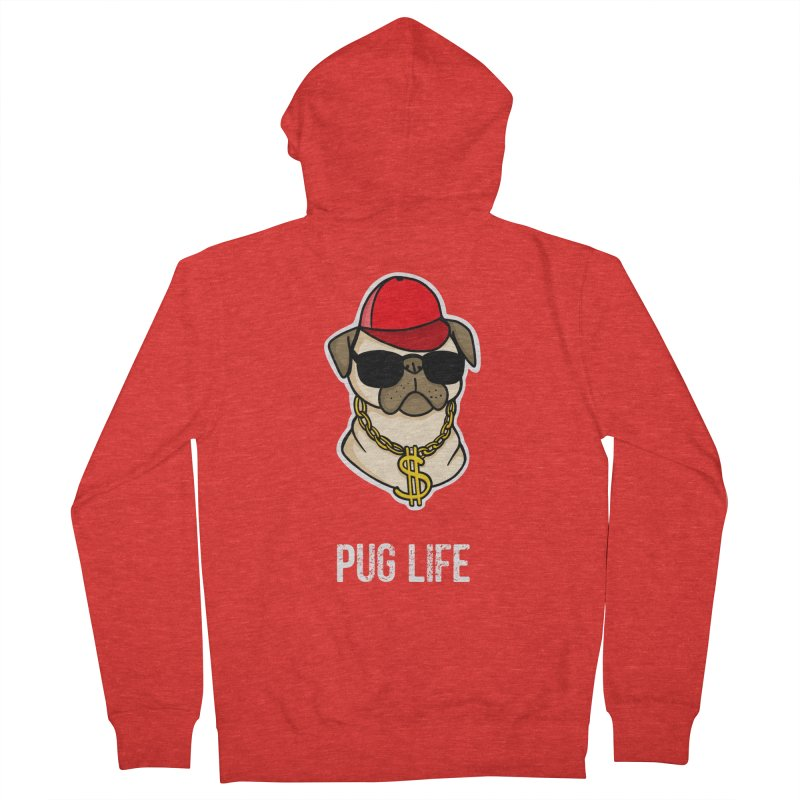 Pug Life Women's Zip-Up Hoody by Piratart Illustration