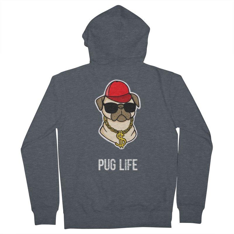Pug Life Men's Zip-Up Hoody by Piratart Illustration