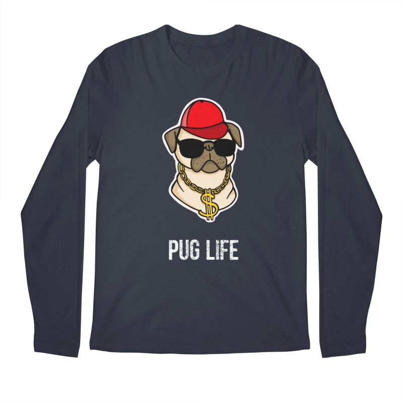 Pug Life Men's Longsleeve T-Shirt by Piratart Illustration
