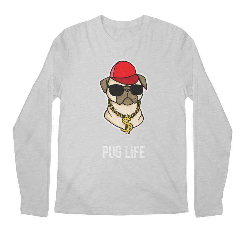 Pug Life Men's Longsleeve T-Shirt by Piratart Illustration
