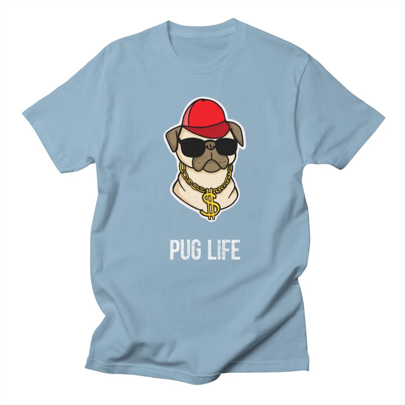 Pug Life Women's Regular Unisex T-Shirt by Piratart Illustration