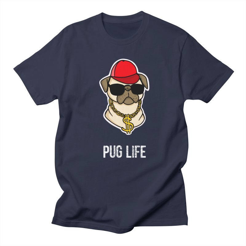Pug Life Men's Regular T-Shirt by Piratart Illustration