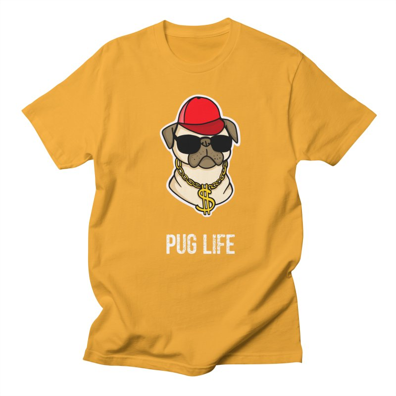 Pug Life Men's Regular T-Shirt by Piratart Illustration