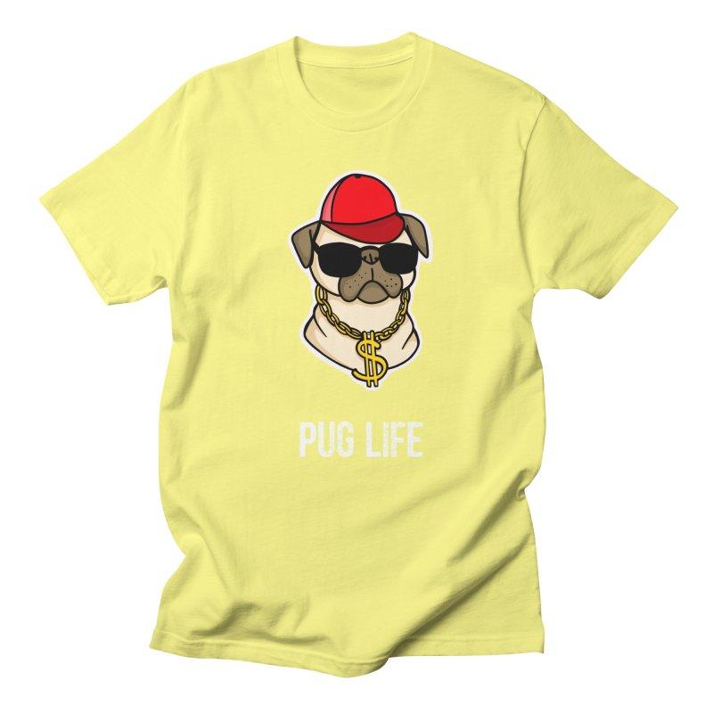 Pug Life Men's T-Shirt by Piratart Illustration