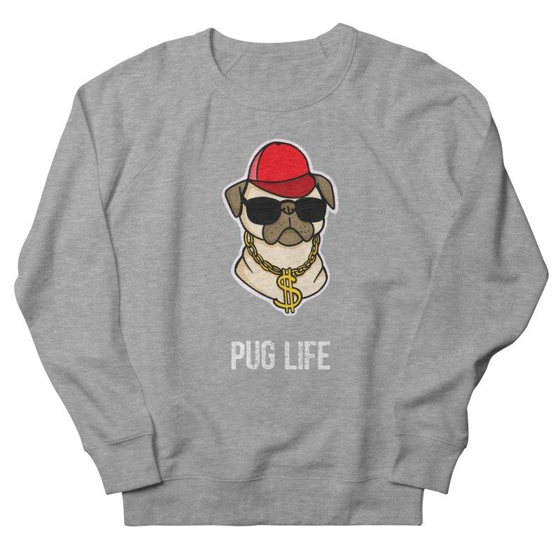 Pug Life Men's French Terry Sweatshirt by Piratart Illustration