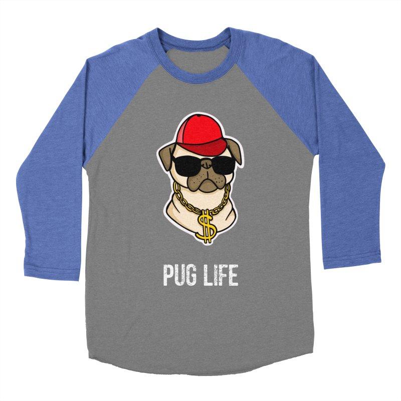 Pug Life Women's Baseball Triblend Longsleeve T-Shirt by Piratart Illustration