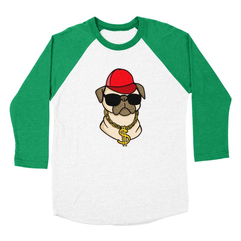 Pug Life Men's Baseball Triblend Longsleeve T-Shirt by Piratart Illustration