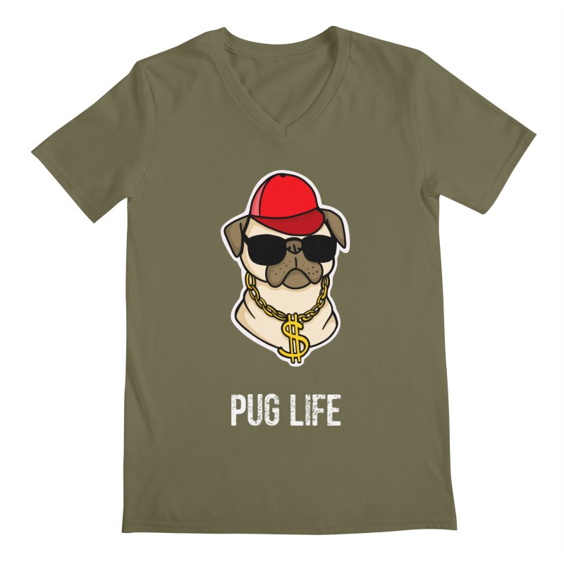 Pug Life Men's V-Neck by Piratart Illustration